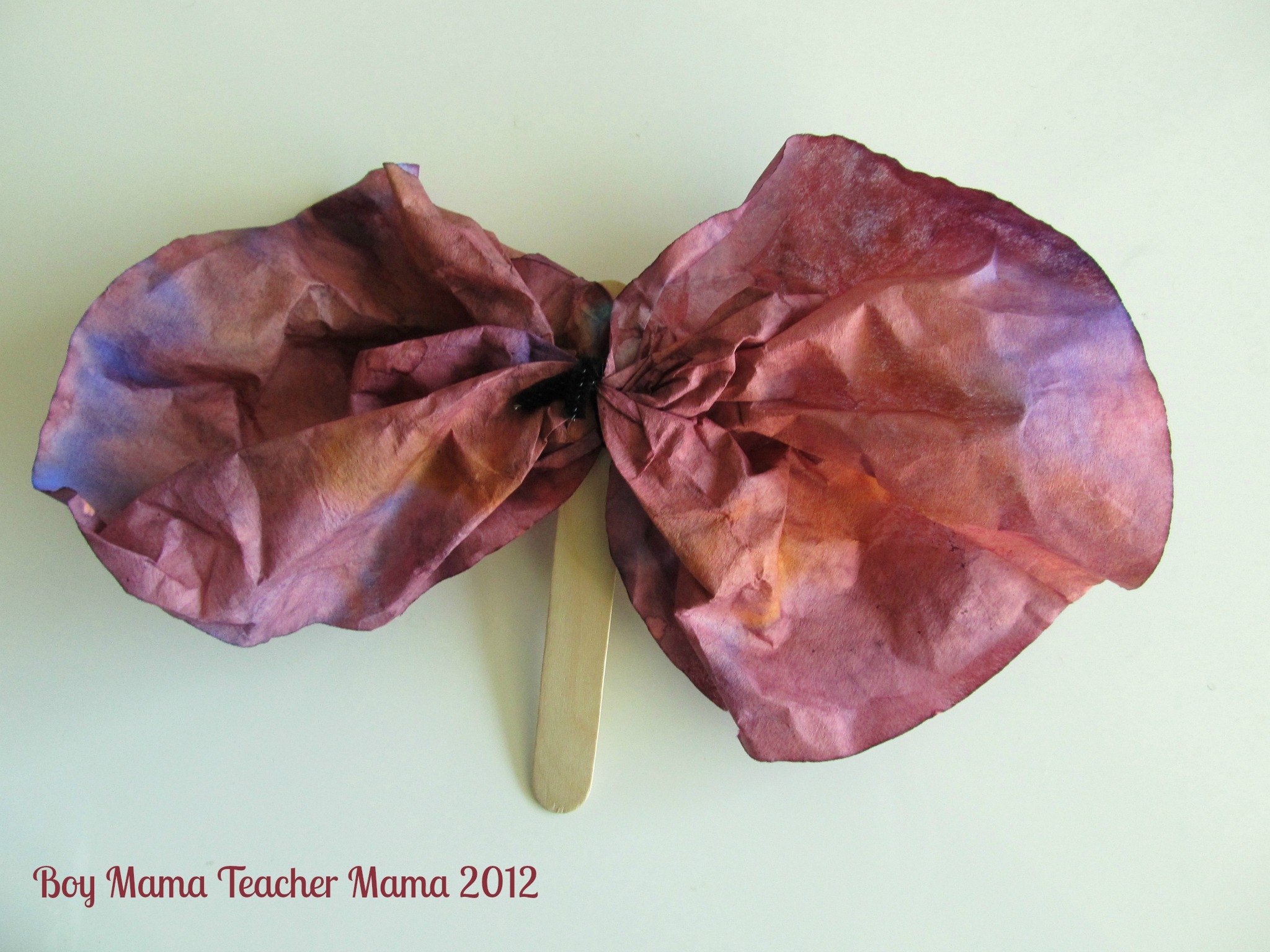 Boy Mama Teacher Mama: Coffee Filter Butterflies, or not...