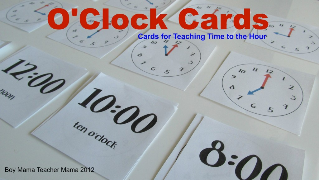 Boy Mama Teacher Mama | O'clock Cards