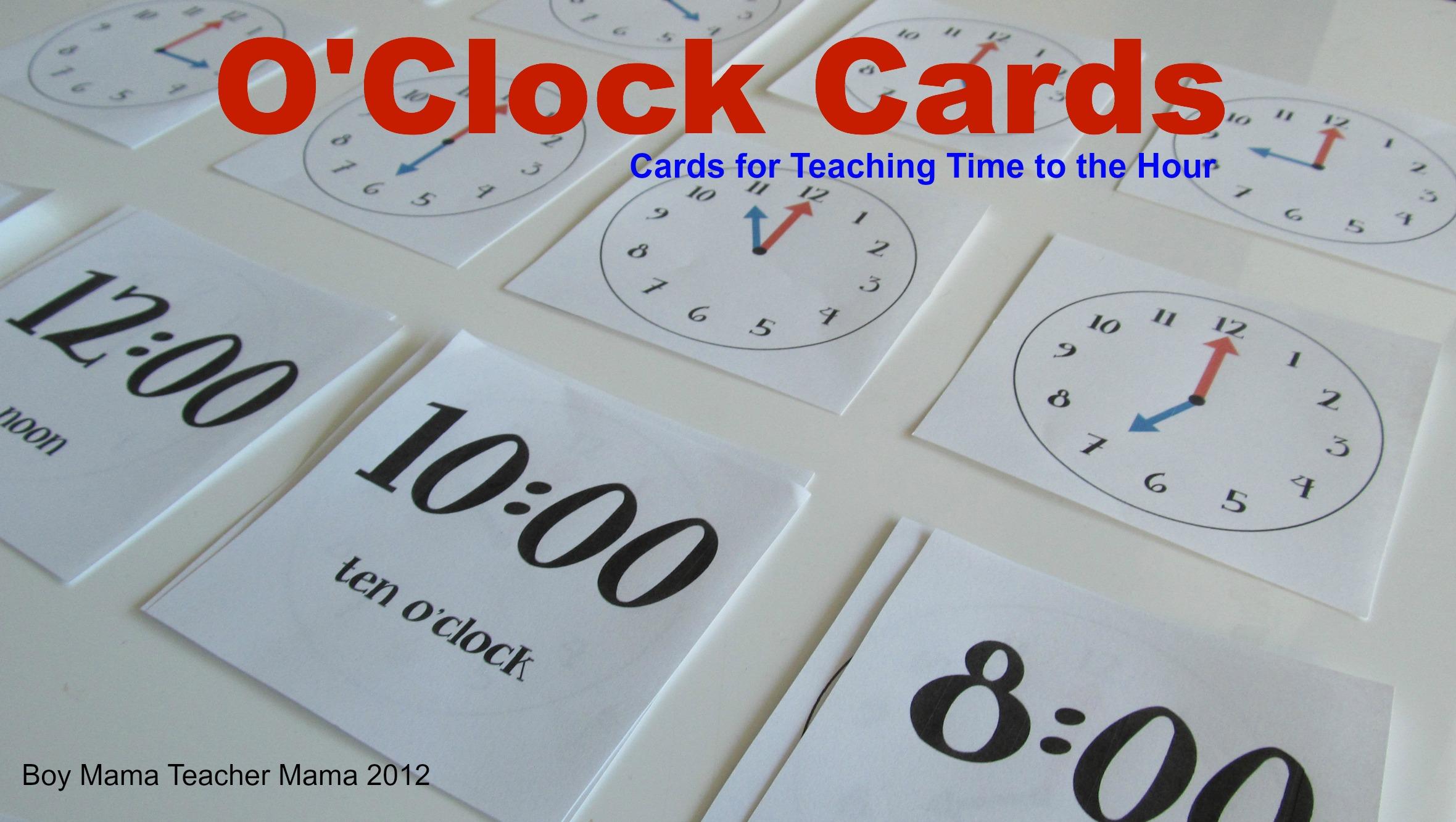 O'clock Cards