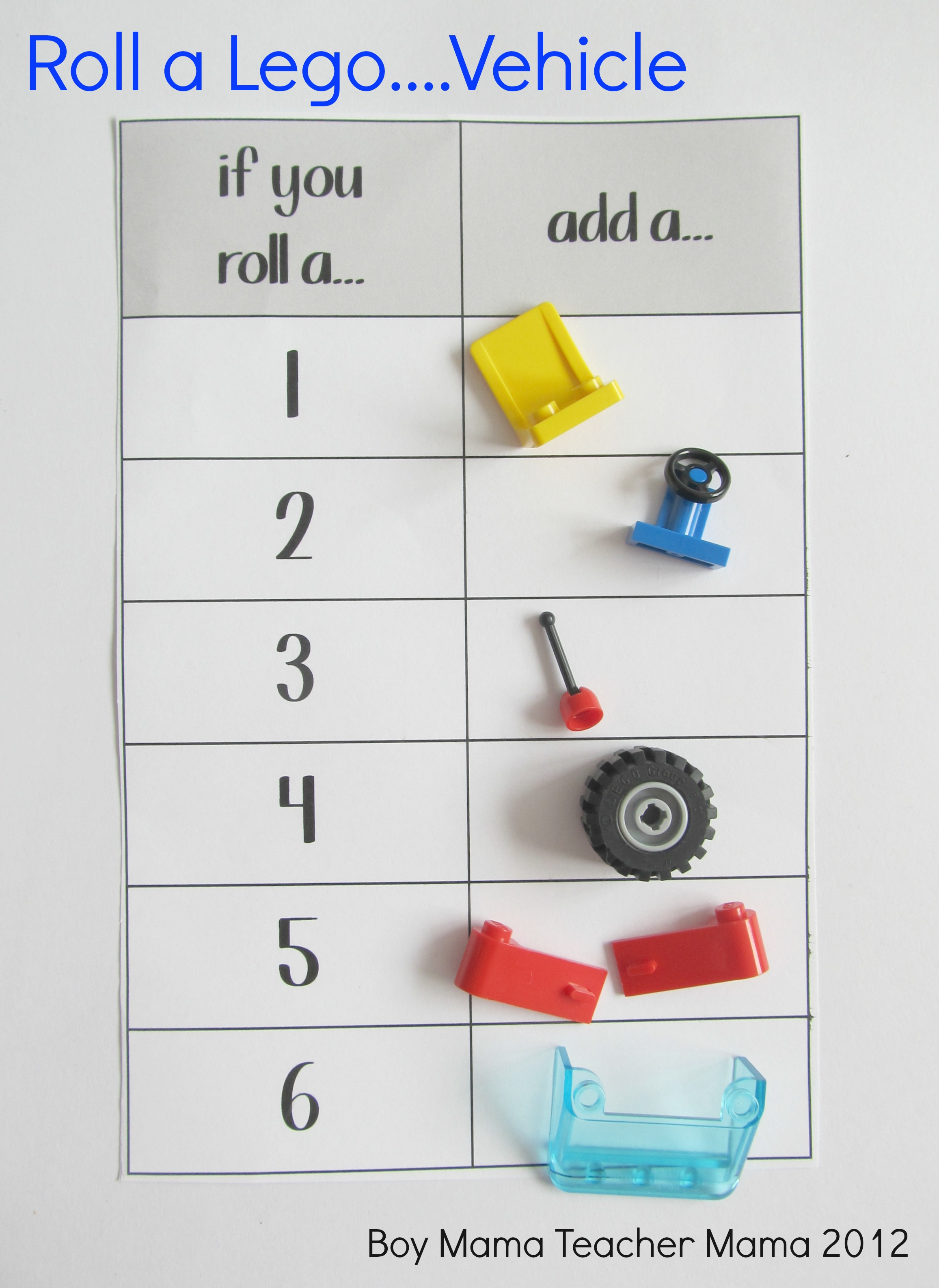 Boy Mama Teacher Mama | roll a Lego Dice Game