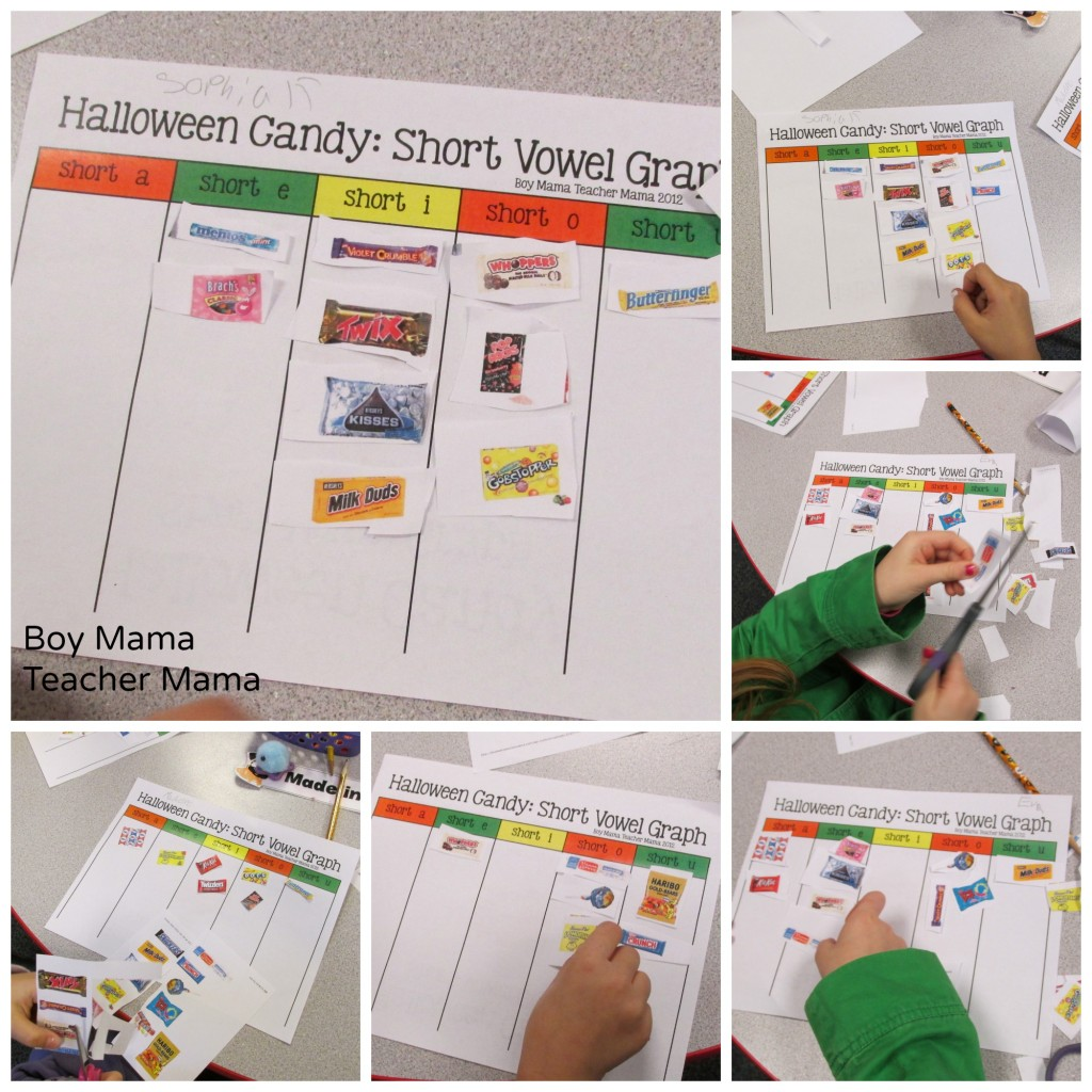 Boy Mama Teacher Mama  Halloween Candy Short Vowel Graph
