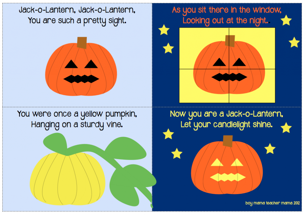 Boy Mama Teacher Mama | Jack-o-lantern, Jack-o-lantern Song and Book