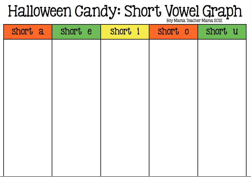 Boy Mama Teacher Mama | Halloween Candy Short VowelGraph