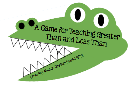 Teacher Mama: A Game for Teaching Greater than and Less Than
