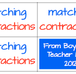 Boy Mama Teacher Mama: Matching Contractions