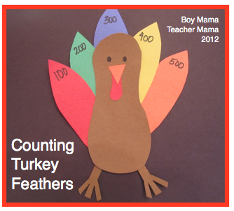 Boy Mama Teacher Mama | Counting Turkey Feathers