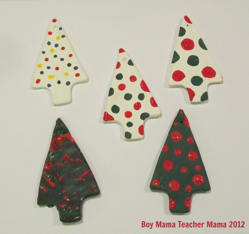 Boy Mama Teacher Mama | Creating Clay Ornaments