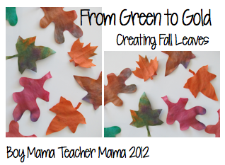 boy mama teacher mama: creating fall leaves