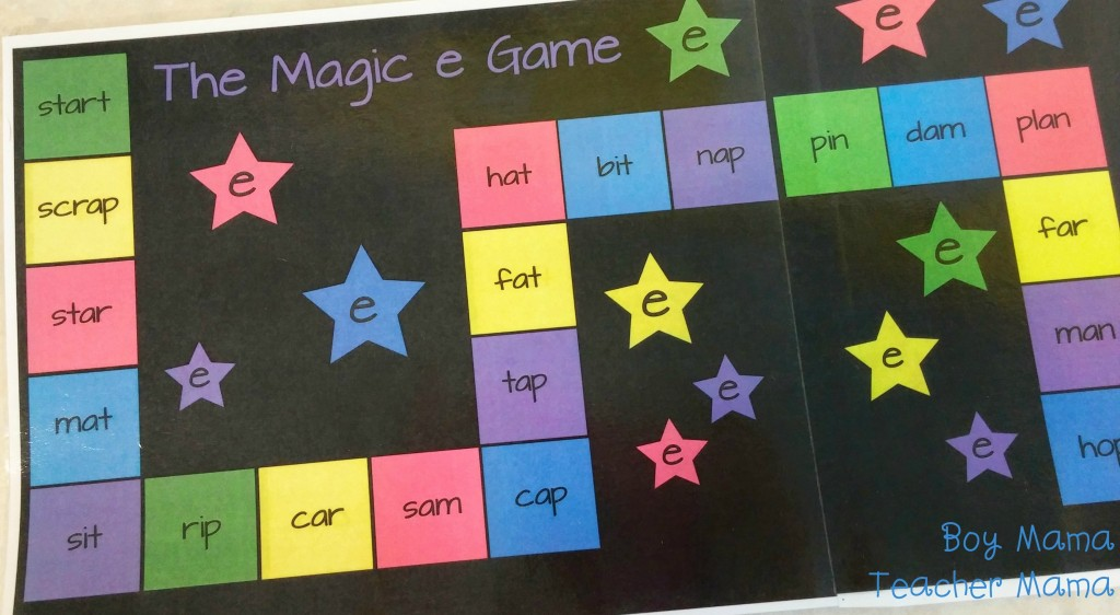 Boy Mama Teacher Mama  The Magic e Game 2