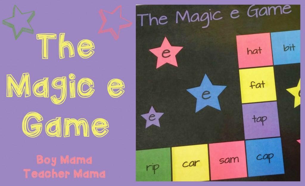 Boy Mama Teacher Mama  The Magic e Game (featured)