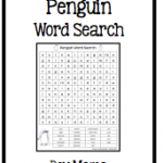 Boy MAma Teacher Mama: FREEBIE! Penguin Word Search