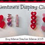 boy mama: valentine's display clips