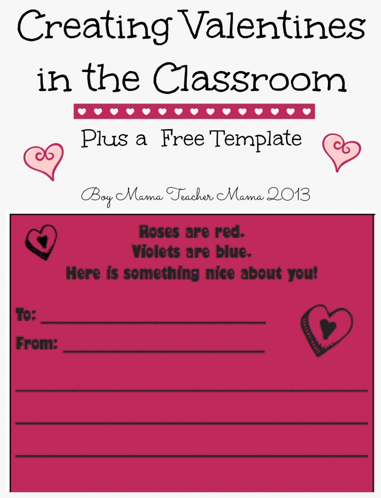 Boy Mama Teacher Mama: Creating Valentines in the Classroom-- FREEBIE!