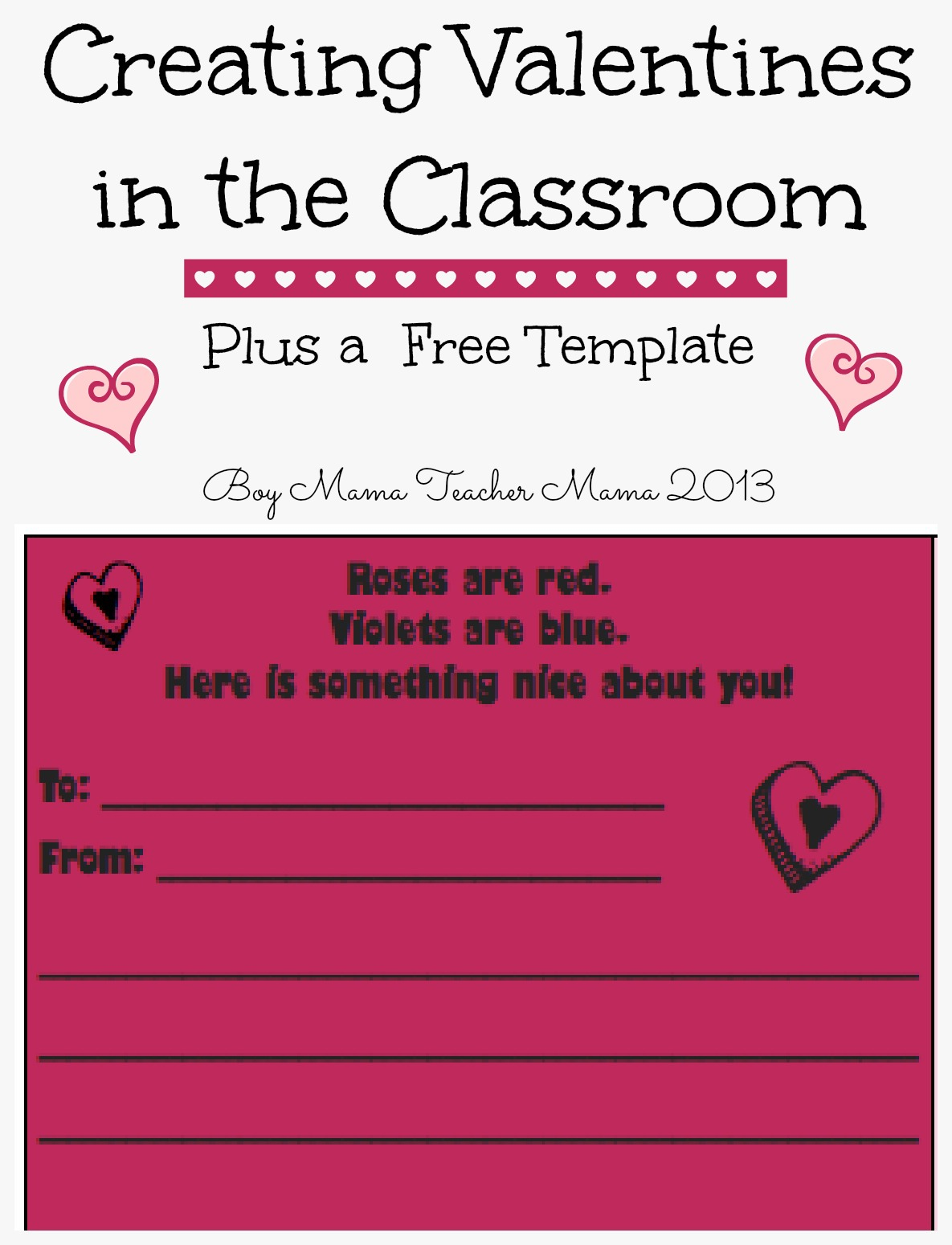 valentine in the classroom