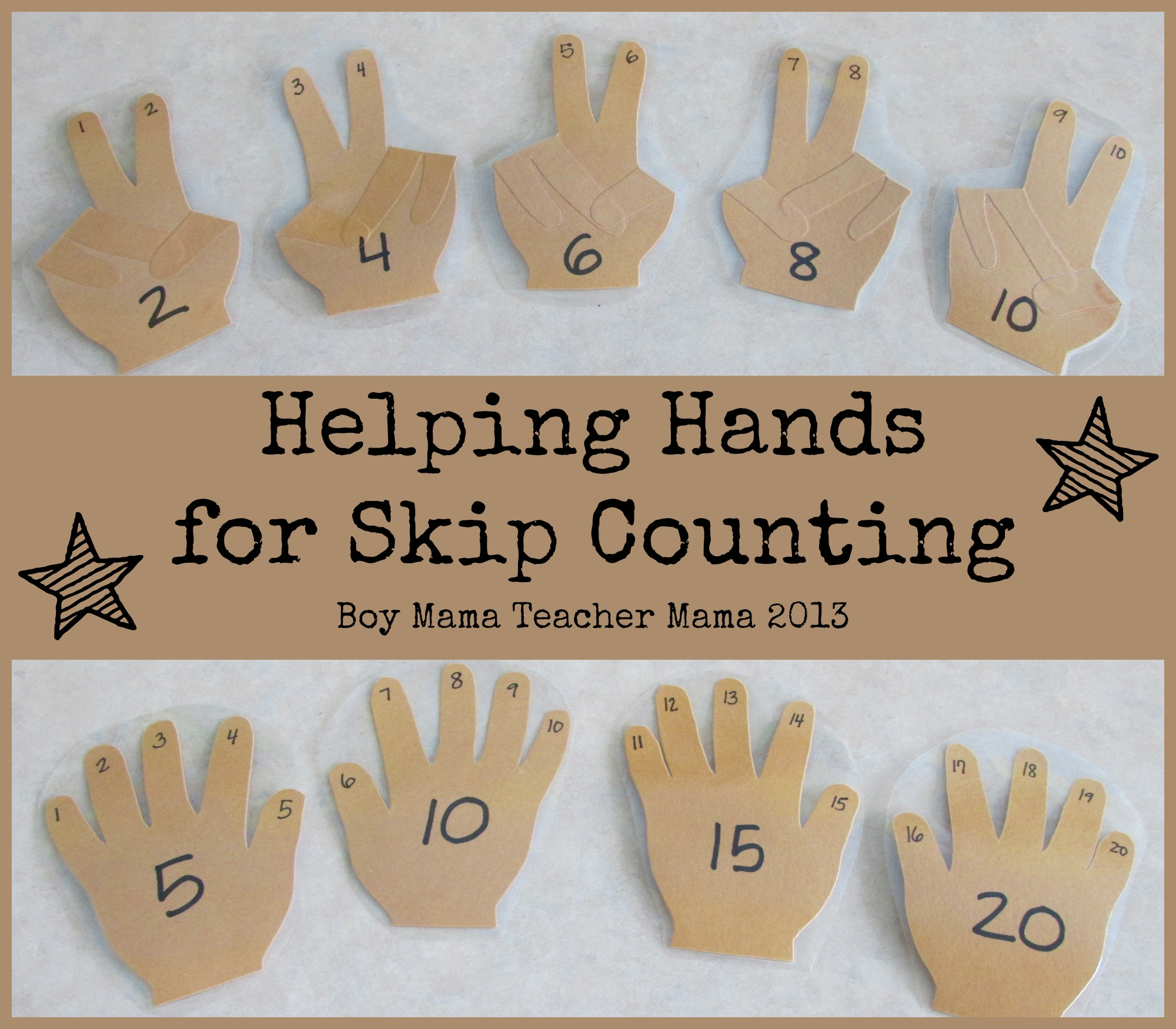 Teacher Mama Helping Hands For Skip Counting Boy Mama