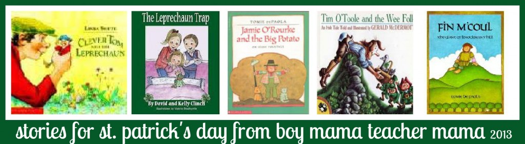 Boy Mama Teacher Mama | Stories for St. Patrick's Day