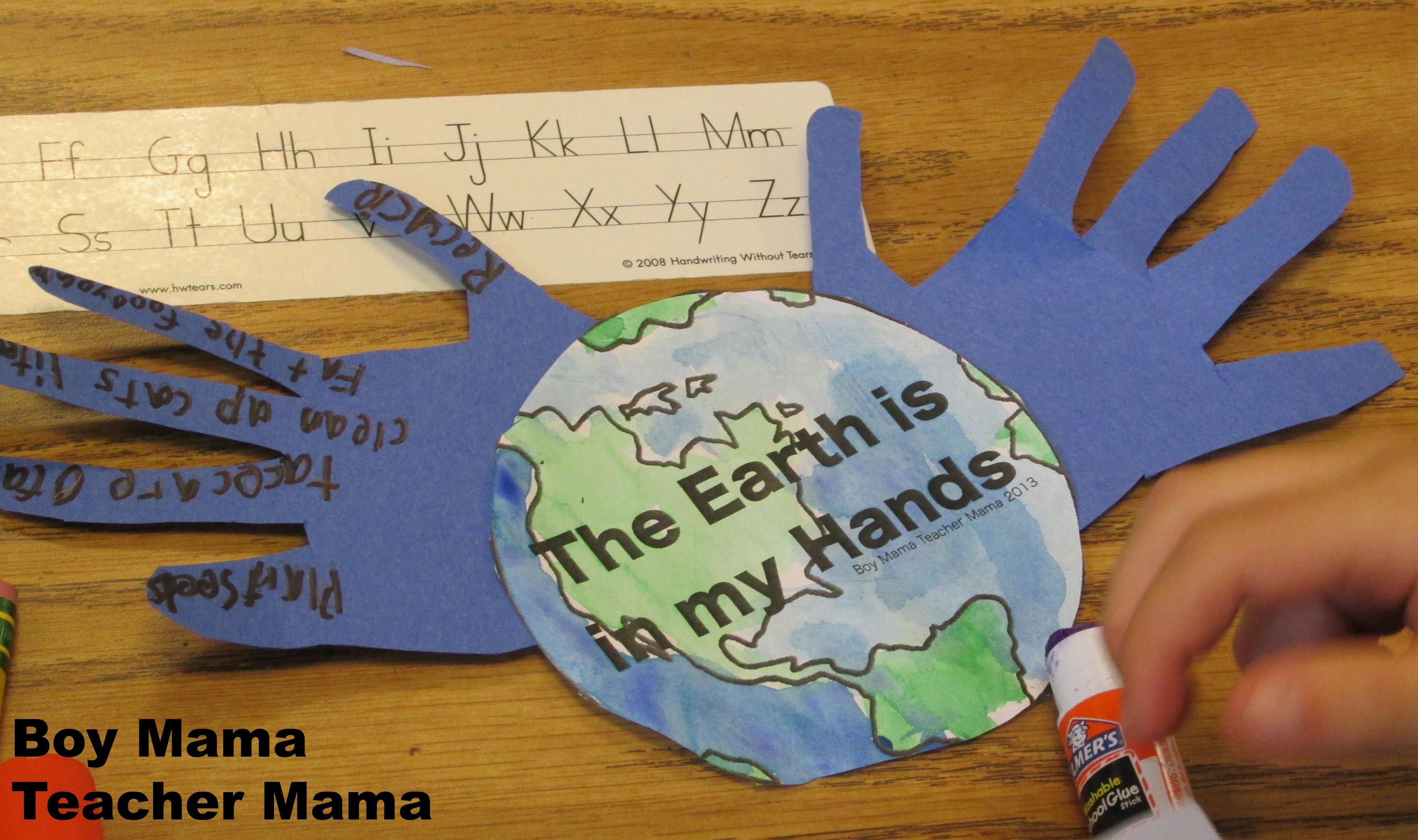 Earth Day Activity Boy Mama Teacher Mama