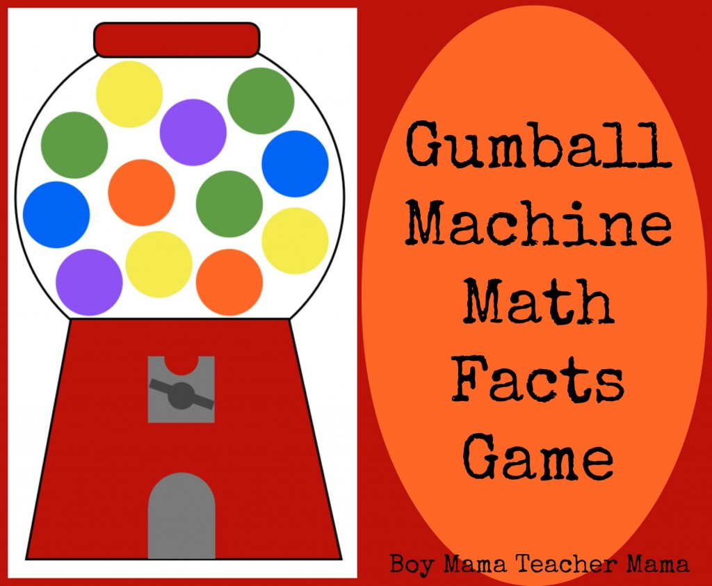 Boy Mama Teacher Mama | Gumball Machine Math Facts Game
