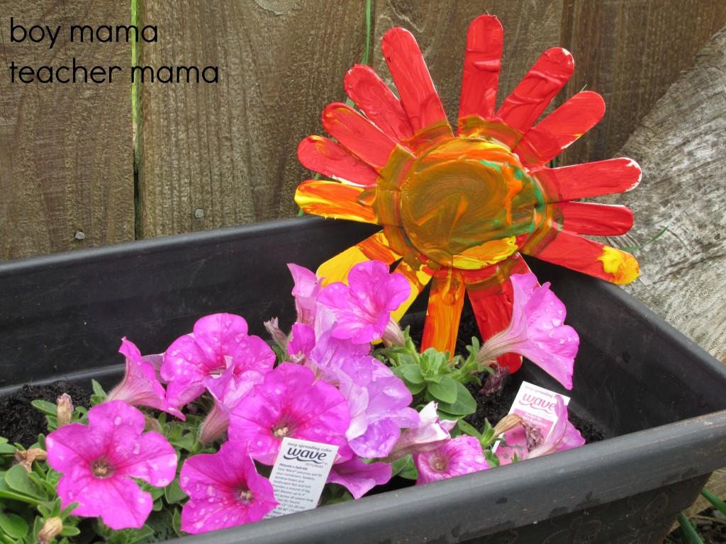 Boy Mama Teacher Mama | Popsicle Stick Sunflowers