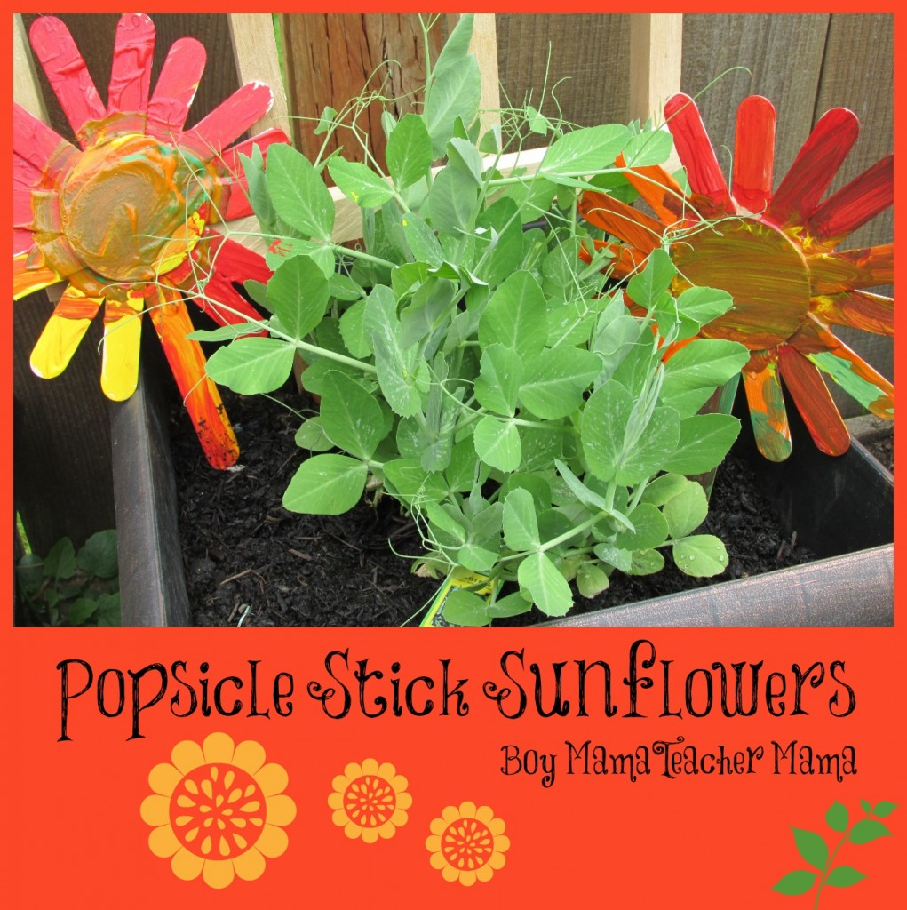 Boy Mama Teacher Mama | Popsicle Stick Sunflowers