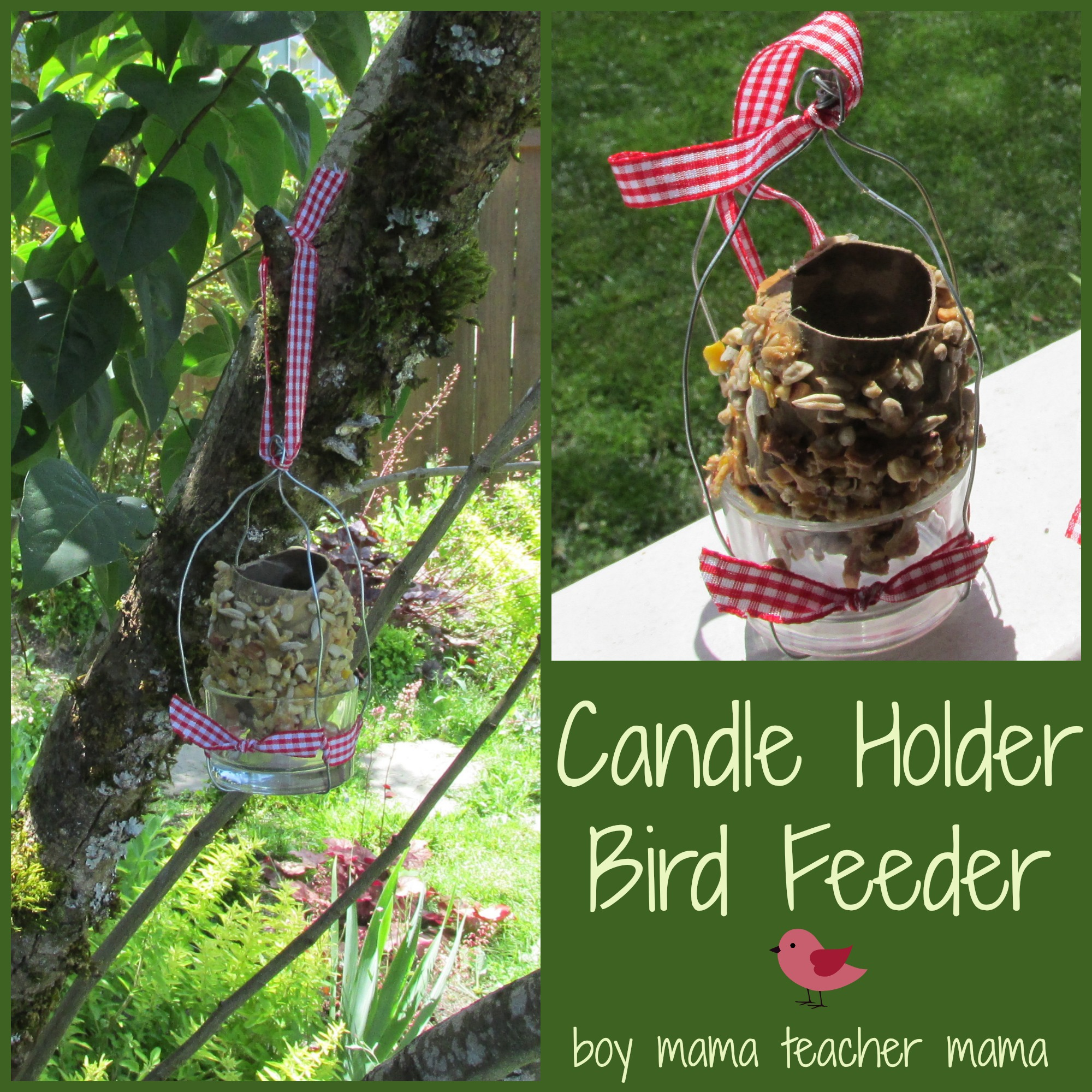 Boy Mama Teacher Mama | Candle Holder Bird Feeder
