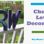 Boy Mama Teacher Mama | Chunky Letter Decorations