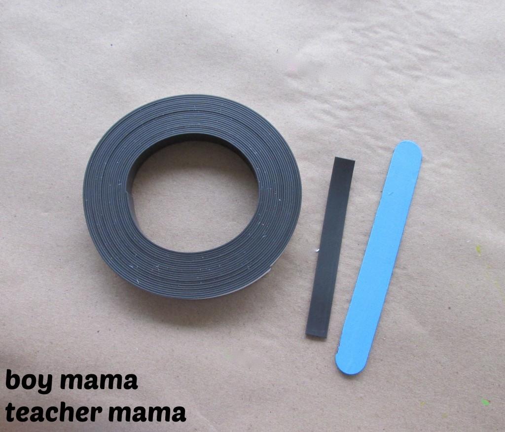 Boy Mama Teacher Mama | Magnet Popsicle Sticks
