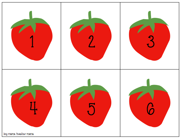 Boy Mama Teacher Mama: Strawberry Counting Cards