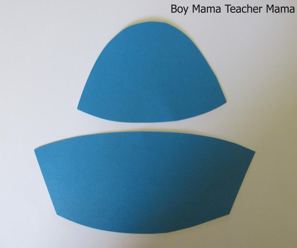 blue stencil hat