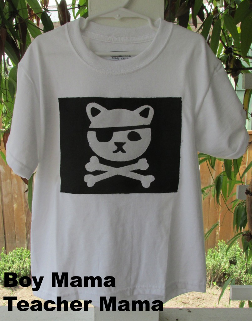 Boy Mama Teacher Mama | Kwazii Kitten Pirate Shirt