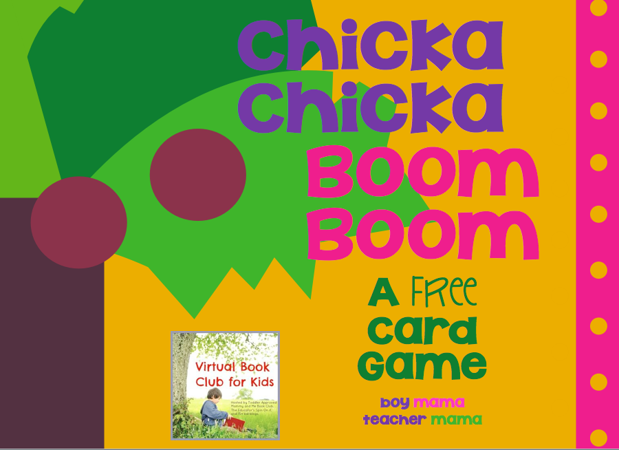image relating to Chicka Chicka Boom Boom Printable Book called Reserve Mama: Cost-free Chicka Chicka Increase Growth Card Activity (Digital