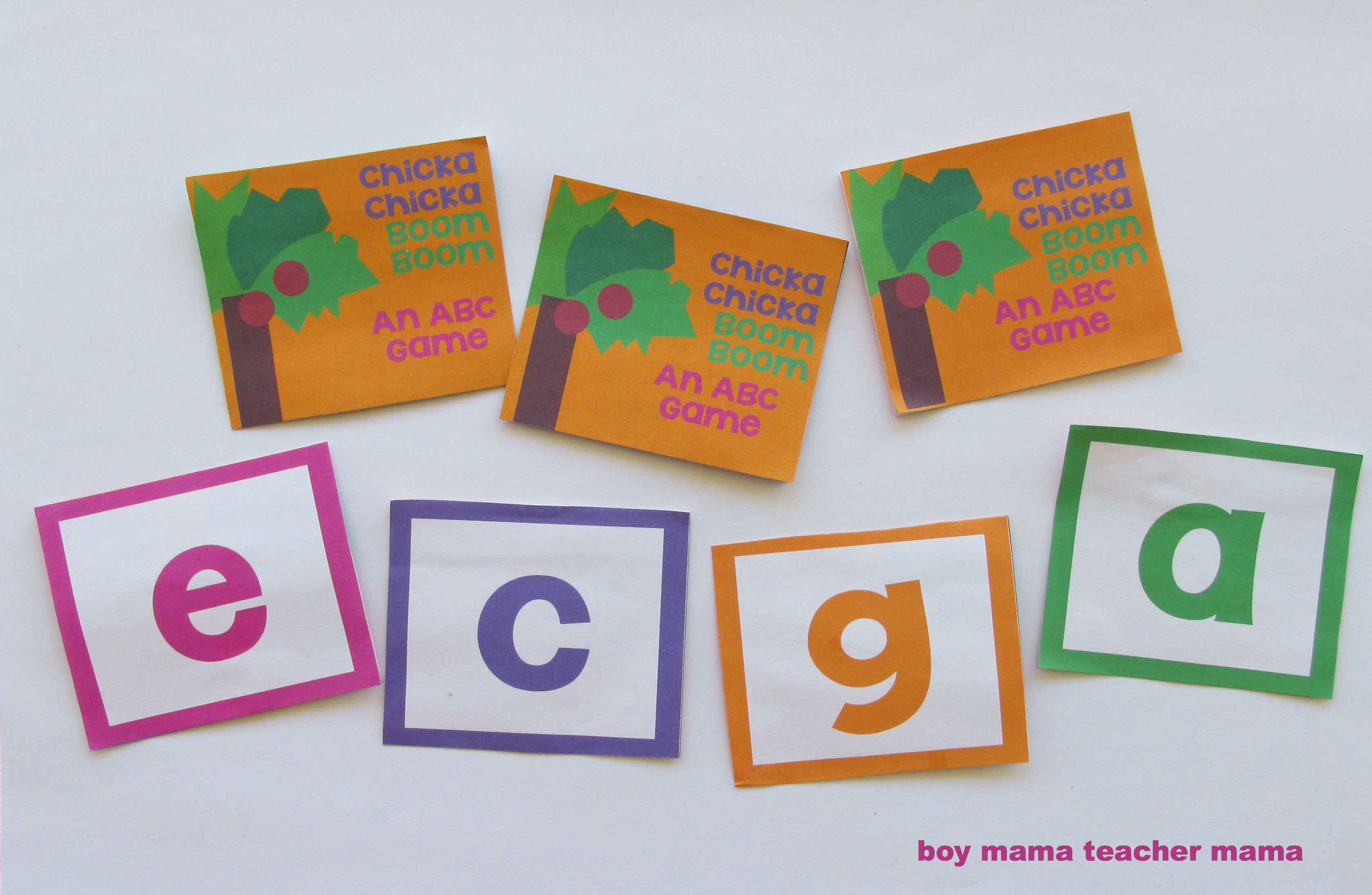Book Mama Free Chicka Chicka Boom Boom Card Game Virtual Book Club For Kids Boy Mama Teacher Mama