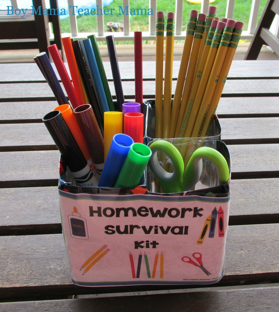 Boy Mama Teacher Mama: Homework Survival Kit