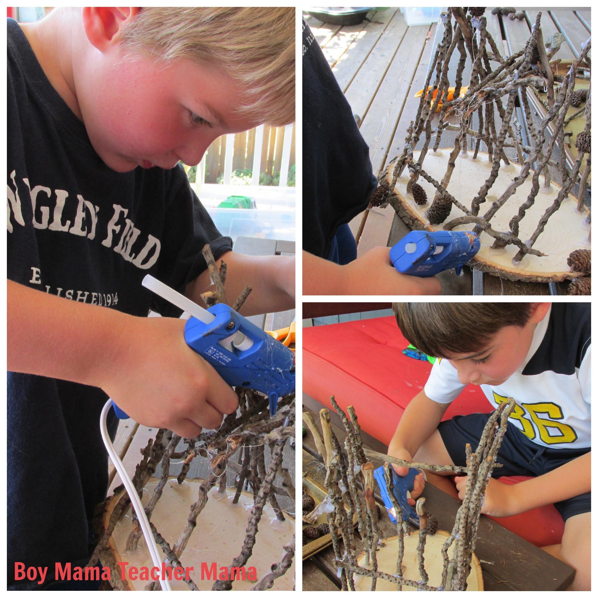 Boy Mama Teacher Mama | Making Fairy Houses with Boys