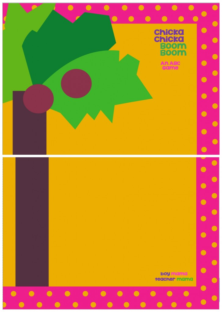 photograph regarding Chicka Chicka Boom Boom Tree Printable named E book Mama: Free of charge Chicka Chicka Increase Increase Card Sport (Digital