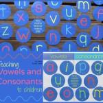 Boy Mama Teacher Mama | Teaching Vowels and Consonants to Children