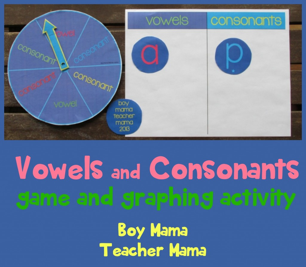 Boy Mama Teacher Mama  Vowels and Consonants game and graphing.jpg