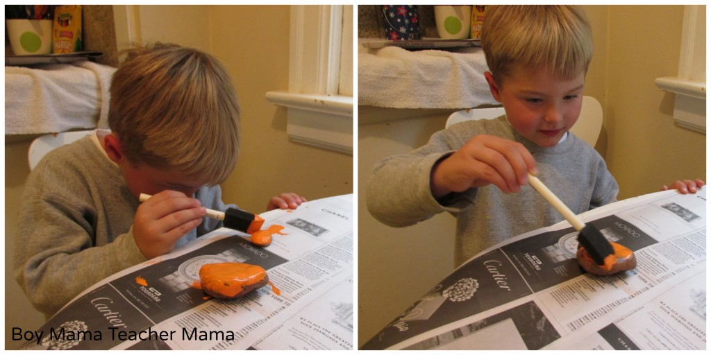 Boy Mama Teacher Mama | Painted Rocks for Halloween
