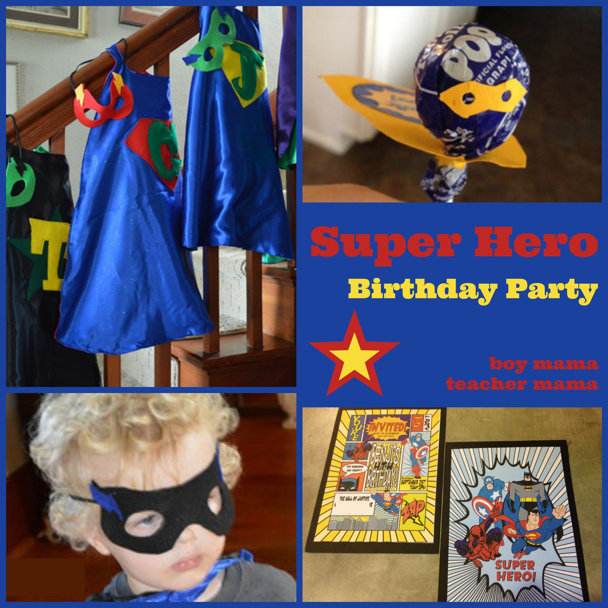 Boy Mama: Super Hero Birthday Party