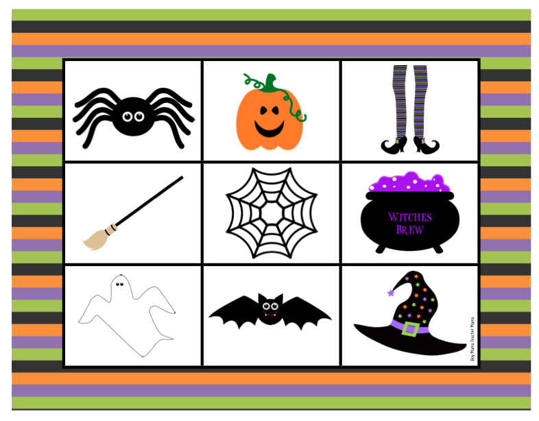 Boy Mama Teacher Mama | FREE Halloween Bingo Game