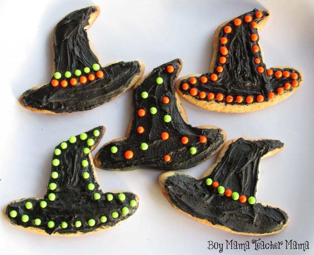 Boy Mama Teacher Mama | Halloween Cookies: Witch Hats