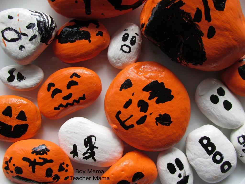 Boy Mama Teacher Mama: Painting Rocks for Halloween