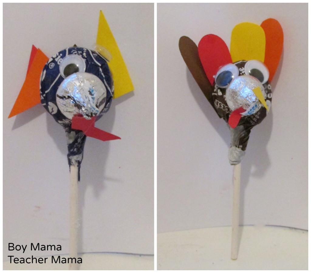 Boy Mama Teacher Mama  Thanksgiving Turkey Lollipops 7