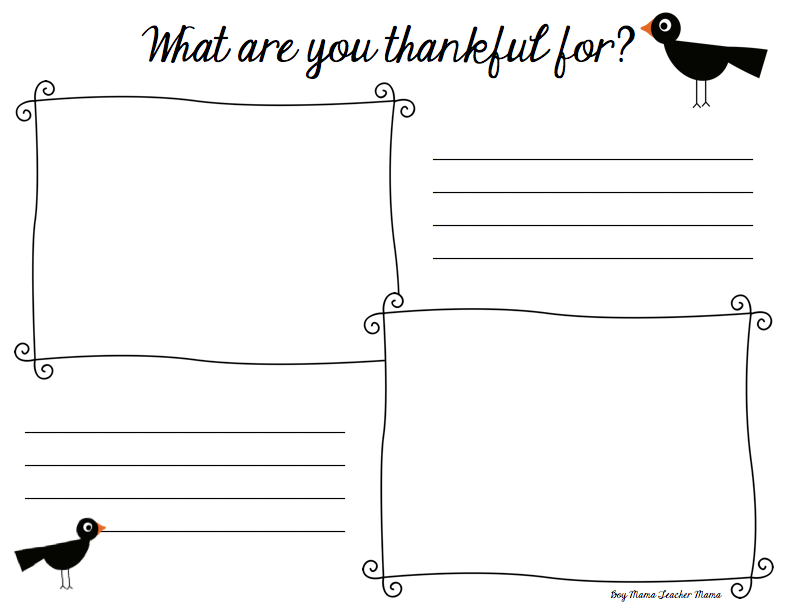 Boy Mama Teacher Mama | What are you Thankful for? Thanksgiving FREEBIE