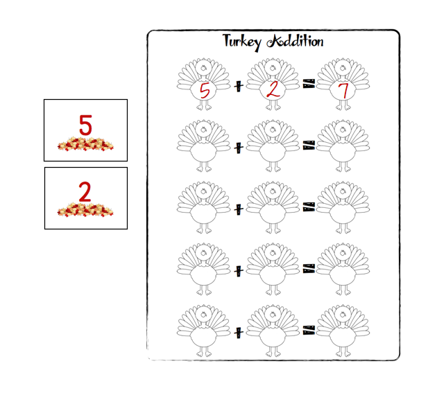 Boy Mama Teacher Mama | FREE Thanksgiving Turkey Math Game