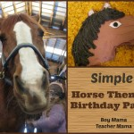 Boy Mama Teacher Mama | Simple Horse Themed Birthday Party