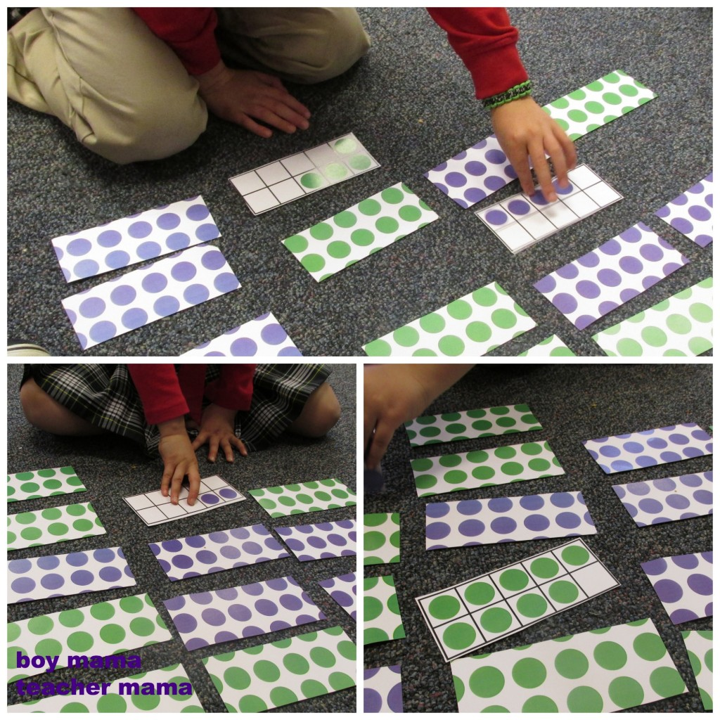 Boy Mama Teacher Mama | The Ten Frame Memory Game