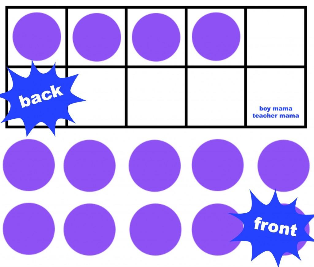 Boy Mama Teacher Mama: The Ten Frame Memory Game