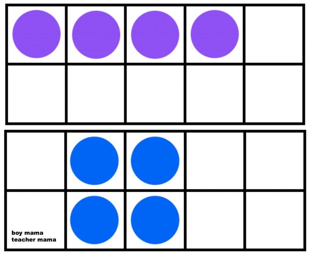 Boy Mama Teacher Mama: The Ten Frame Memory Game pair