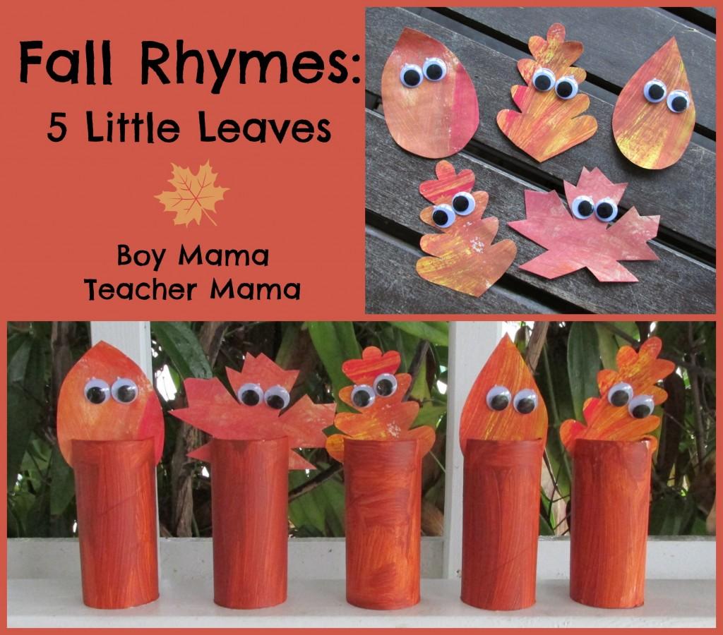 Boy Mama Teacher Mama | 5 Little Leaves